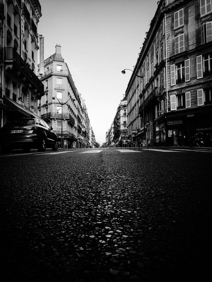 Les rues de Paris photo stock