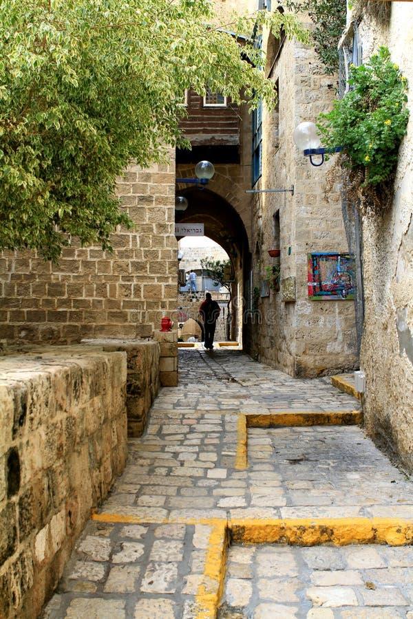 Les rues de vieux Jaffa image libre de droits
