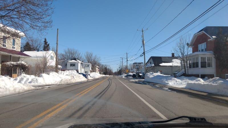 Les rues du Québec en hiver photos stock