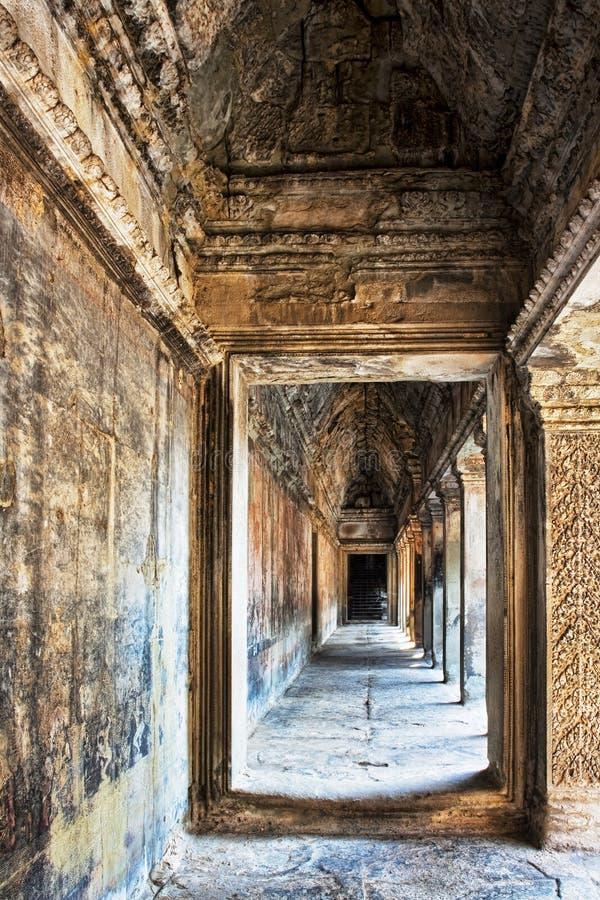 Les ruines antiques d'Angkor Vat au Cambodge photographie stock libre de droits