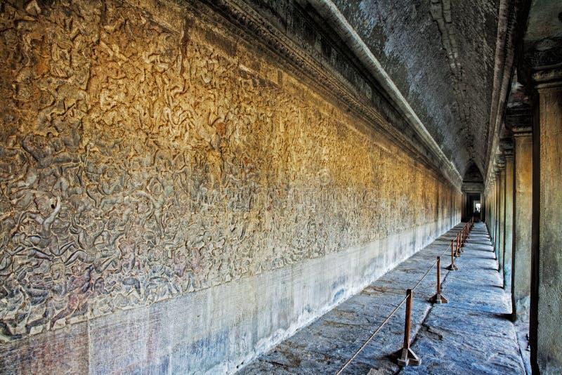 Les ruines antiques d'Angkor Vat au Cambodge image libre de droits