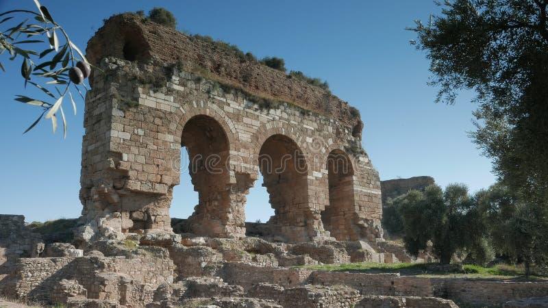 Les ruines antiques de la ville bizantine ont appelé Tralleis avec les oliviers, Aydin, Turquie 4K photo libre de droits