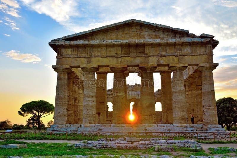 Les ruines antiques Paestum Italie photographie stock