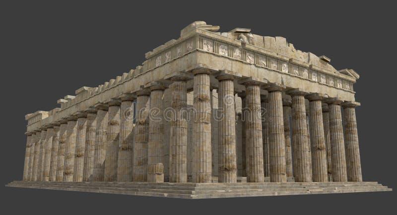 Les ruines 3D de parthenon rendent illustration de vecteur