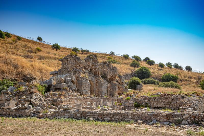 Les ruines d'Ephesus photo stock