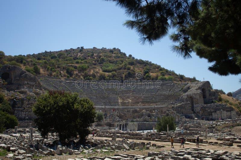 Les ruines d'Ephesus - la Turquie en août 2018 - images libres de droits