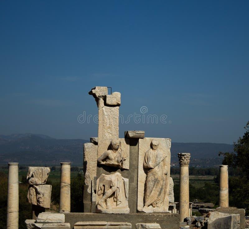 Les ruines d'Ephesus - la Turquie en août 2018 - photographie stock libre de droits