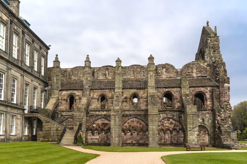 Les ruines de Holyrood Abbey Edinburgh photographie stock