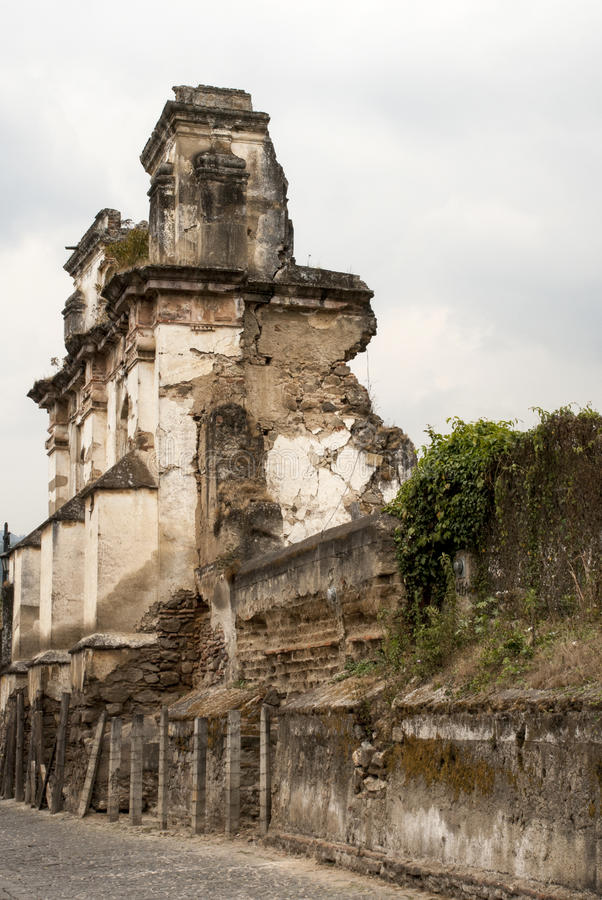 Les ruines de l'EL Carmen Church image stock