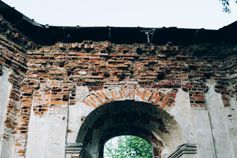 Les ruines de la chapelle du siècle XXII image libre de droits