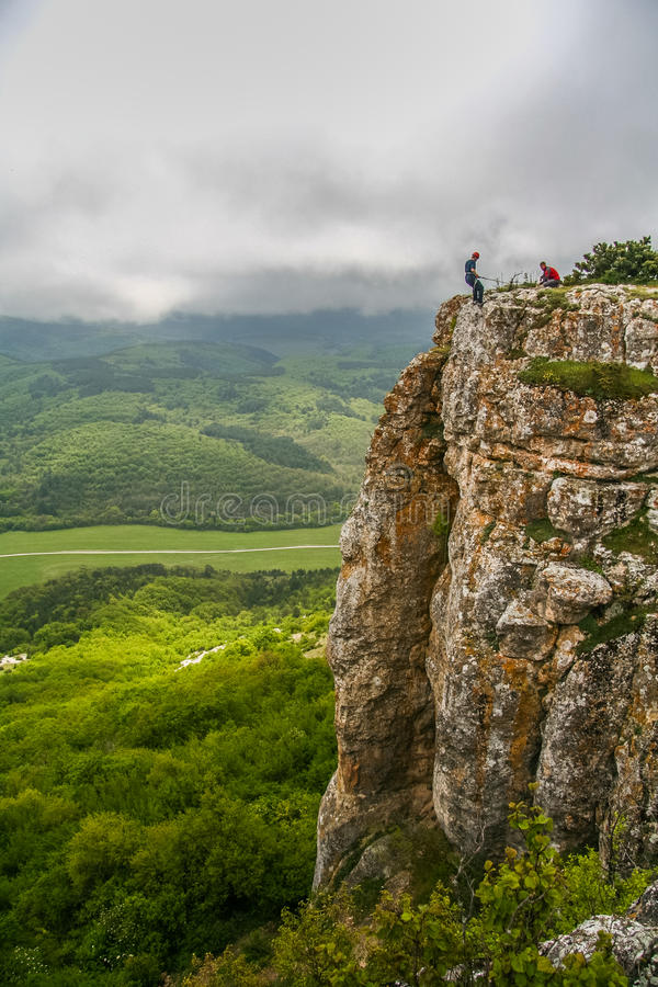Les ruines de la forteresse Mangup images libres de droits