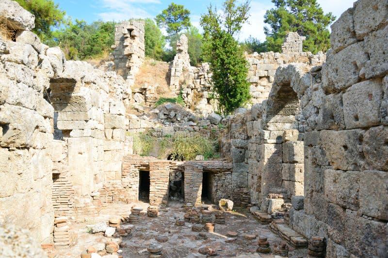 Les ruines de la ville antique de Phaselis image libre de droits