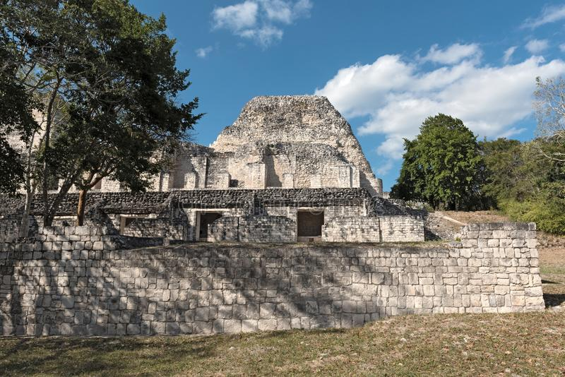 Les ruines de la ville maya antique de Becan, Campeche, Mexique photographie stock libre de droits