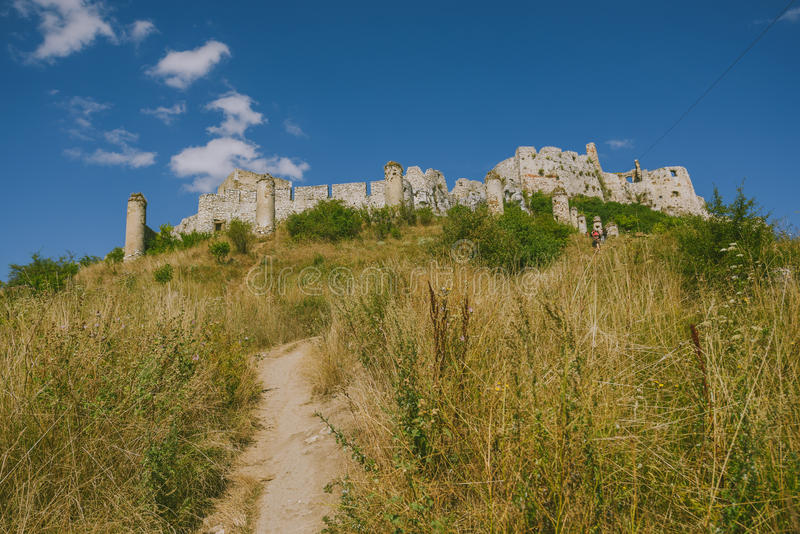 Les ruines du château de Spis, Slovaquie images stock