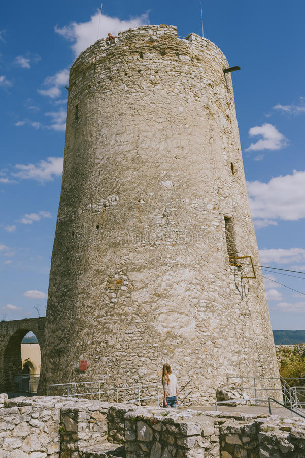 Les ruines du château de Spis, Slovaquie photo libre de droits