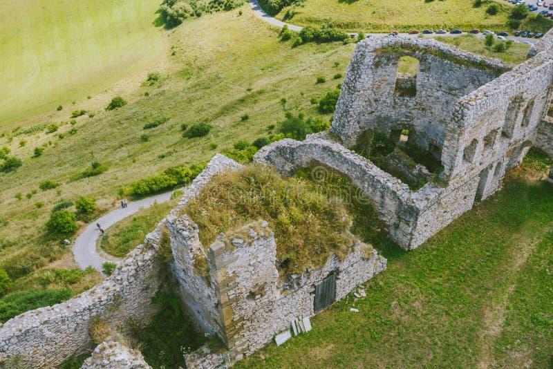 Les ruines du château de Spis, Slovaquie images libres de droits