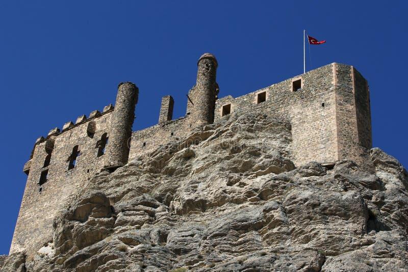 Les ruines du château médiéval de Hosap situé dans le village de Guzelsu près de Van en Turquie orientale images stock