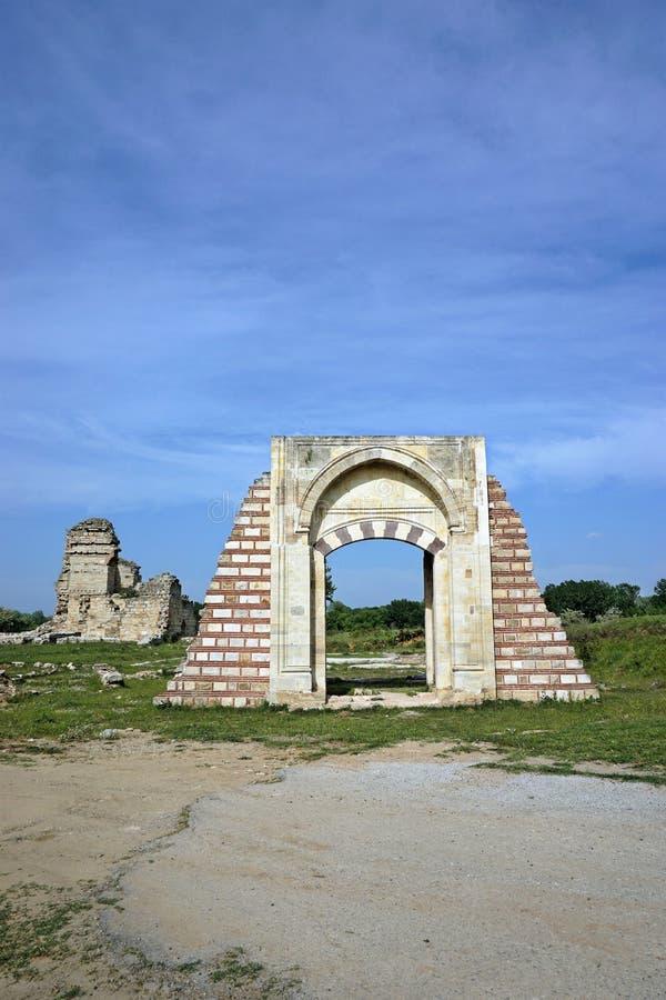 Les ruines du palais d'Edirne à Edirne, Turquie image stock