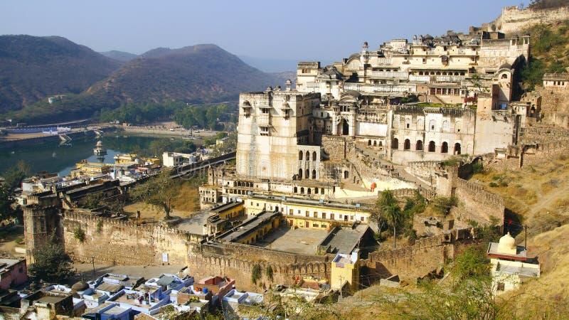 Les ruines du palais de Bundi. photo stock