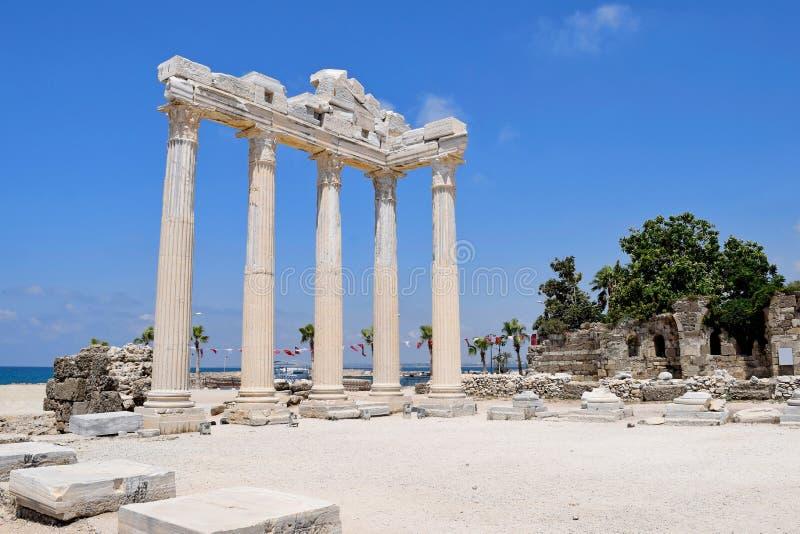Les ruines du temple antique photos libres de droits
