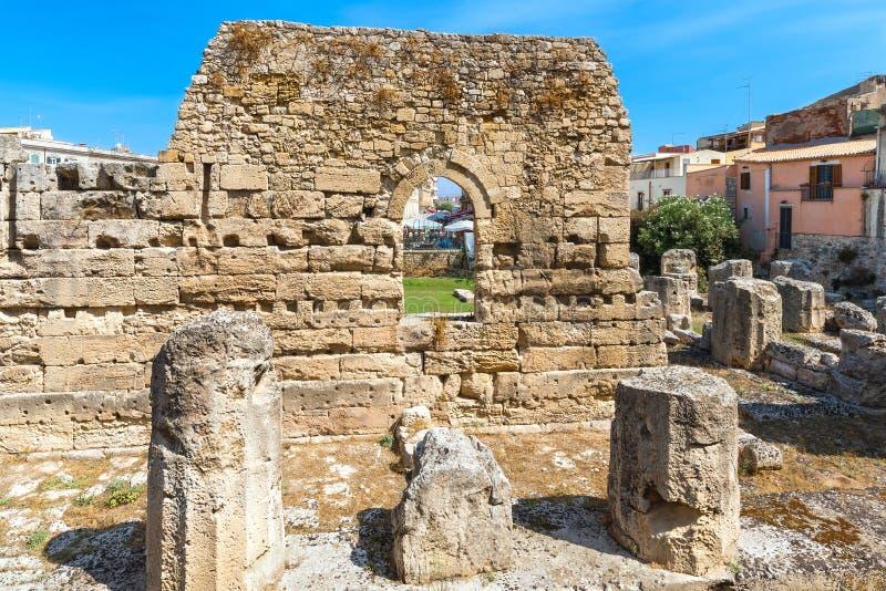 Les ruines du temple d'Apollo images libres de droits