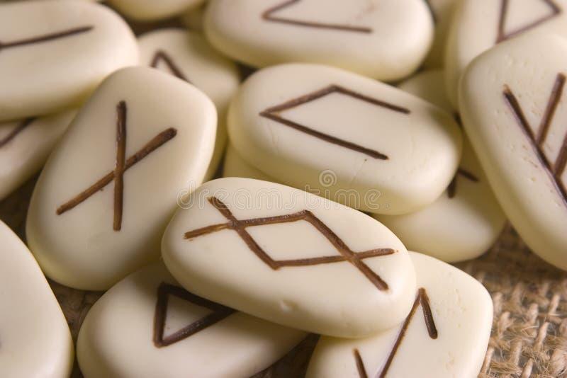 Les runes se ferment photographie stock libre de droits