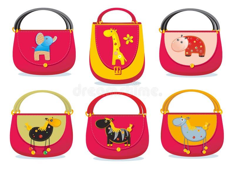 Les sacs des enfants illustration libre de droits