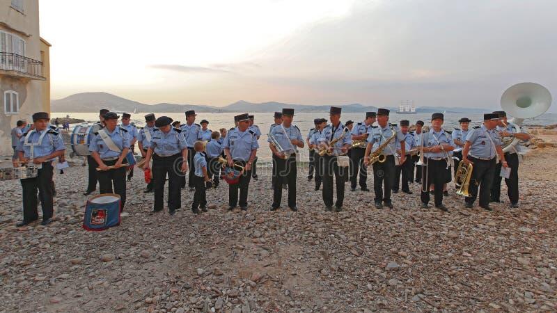 Les sapeurs-pompiers d'orchestre Saint Tropez photographie stock