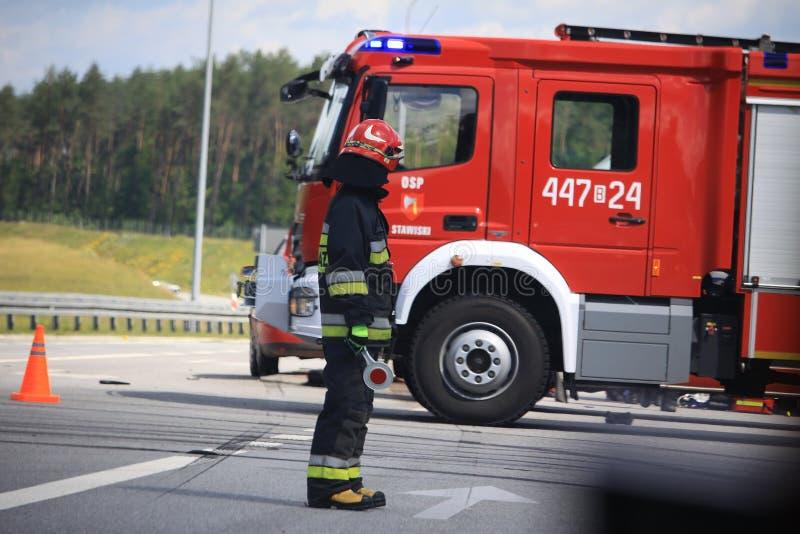 Les sapeurs-pompiers en Allemagne photo libre de droits