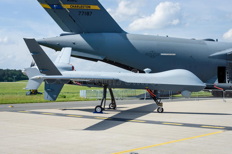 Les sciences atomiques générales téléguidées MQ-9 Reaper de véhicule aérien de combat image libre de droits