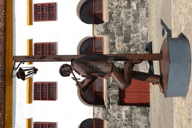 Les sculptures dans le musée de l'art moderne à Carthagène photographie stock