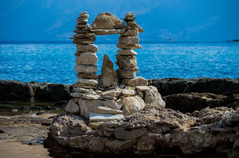 Les sculptures de la roche image stock