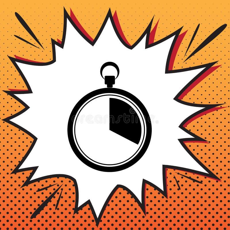 Les 20 secondes, signe de chronomètre de minutes Vecteur Ico de style de bandes dessinées illustration libre de droits