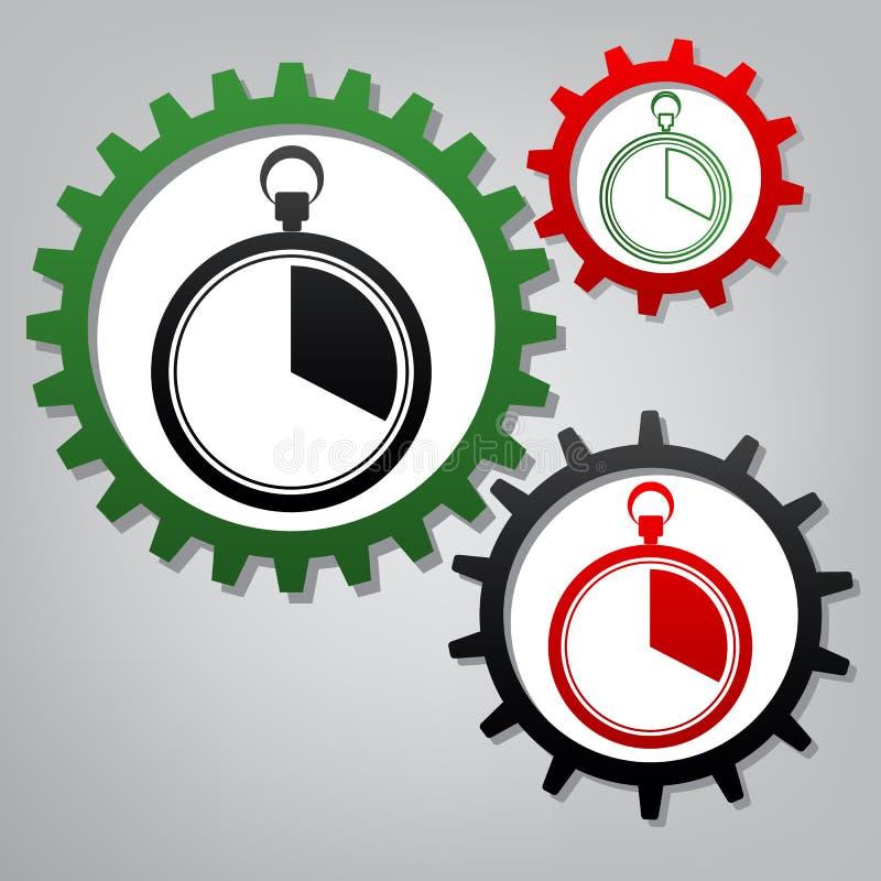 Les 20 secondes, signe de chronomètre de minutes Vecteur Trois reliés illustration de vecteur