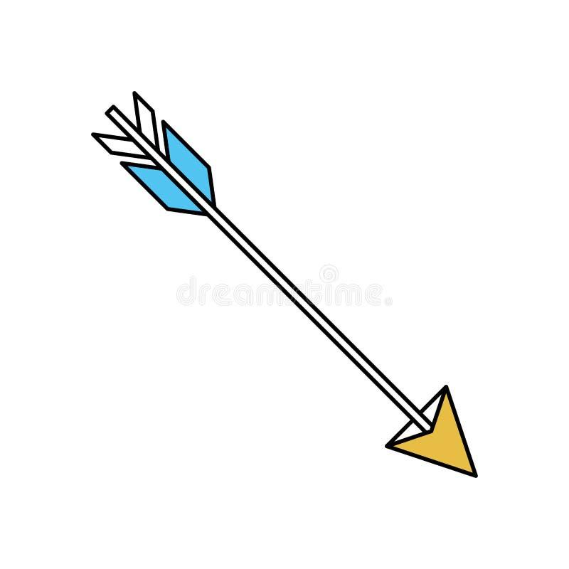 Les secteurs de couleur silhouettent de chasser la flèche illustration de vecteur