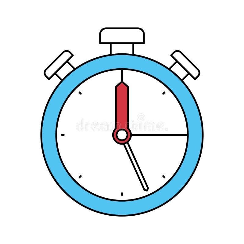 Les secteurs de couleur silhouettent de l'icône de chronomètre illustration stock