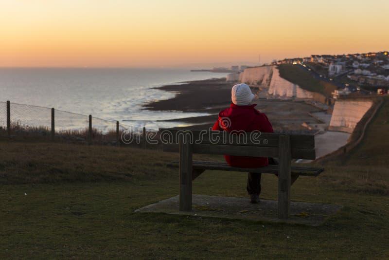 Les sept soeurs est des séries de falaises de craie par la Manche Ils font partie des bas du sud dans le Sussex est images stock