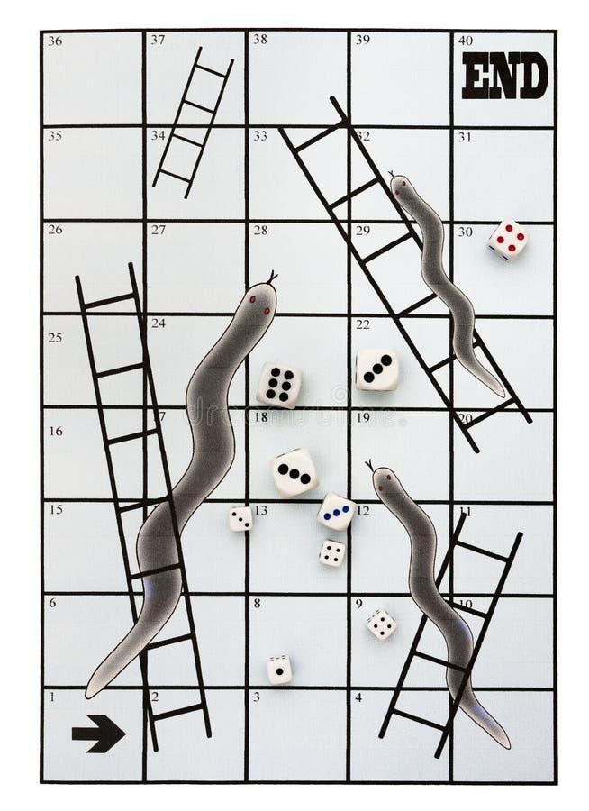 Les serpents de métaphore d'affaires et les échelles, on découpent photo libre de droits