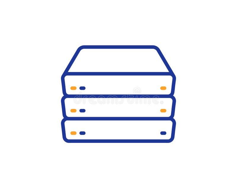 Les serveurs rayent l'icône Signe composant de PC grand stockage de données Vecteur illustration stock