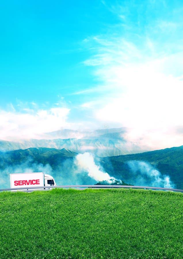 Les services d'expédition explorent la nation image stock