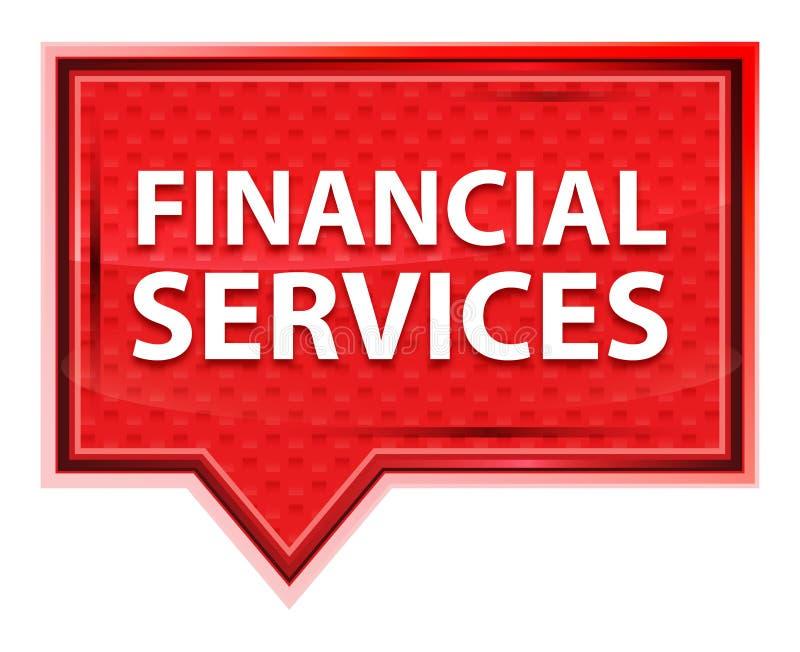 Les services financiers brumeux ont monté bouton rose de bannière illustration de vecteur