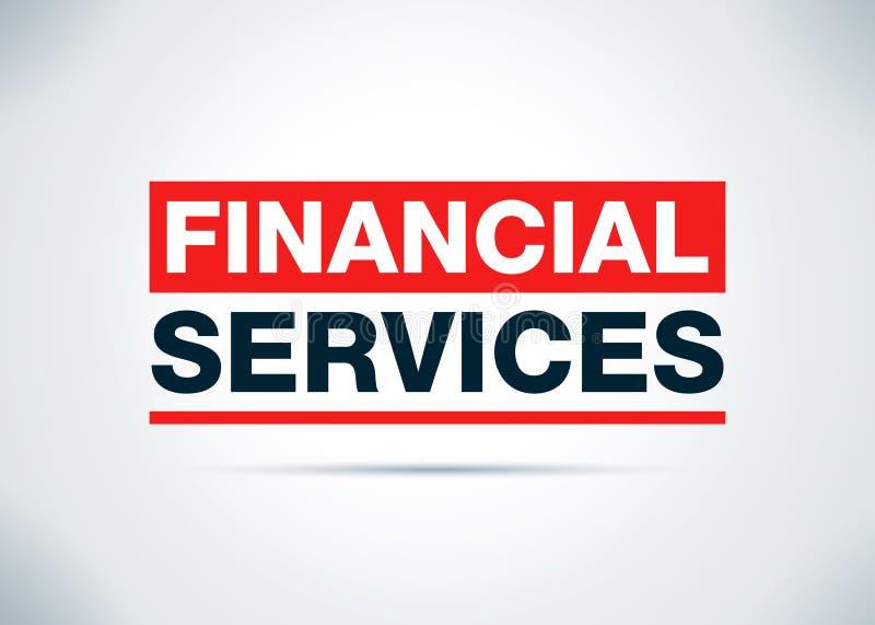 Les services financiers soustraient l'illustration plate de conception de fond illustration de vecteur