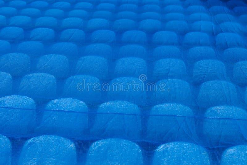 Les sièges dans le stade sous le film Coupe du monde de la FIFA 2018 photo stock