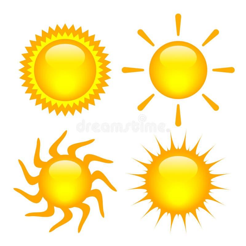 Les soleils réglés illustration libre de droits