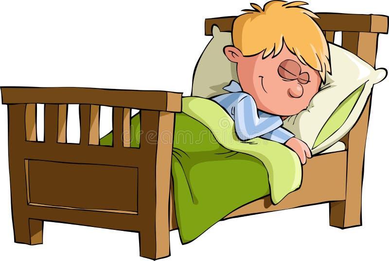 Les sommeils de garçon illustration libre de droits