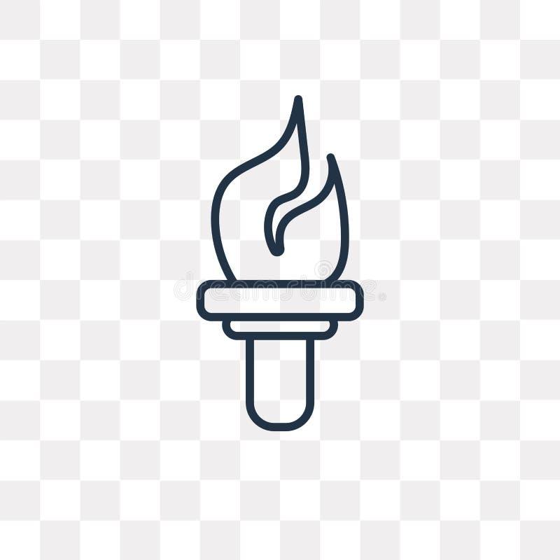 Les sports incendient l'icône de vecteur d'isolement sur le fond transparent, lin illustration libre de droits