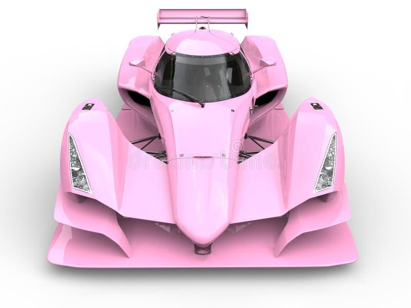 Les sports superbes roses doux emballent le tir automobile de plan rapproché de vue de face illustration stock