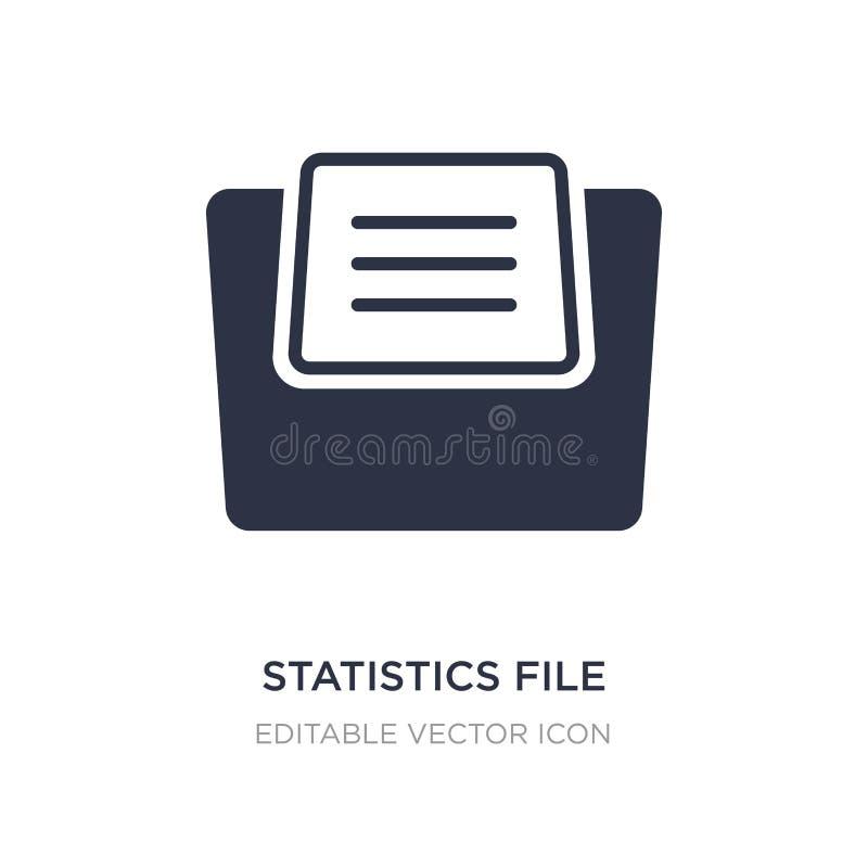 les statistiques classent l'icône sur le fond blanc Illustration simple d'élément des dossiers et de concept de dossiers illustration de vecteur