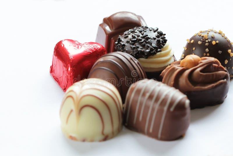Download Les Sucreries De Chocolat Se Ferment Vers Le Haut Photo stock - Image du assorti, délicieux: 77161668