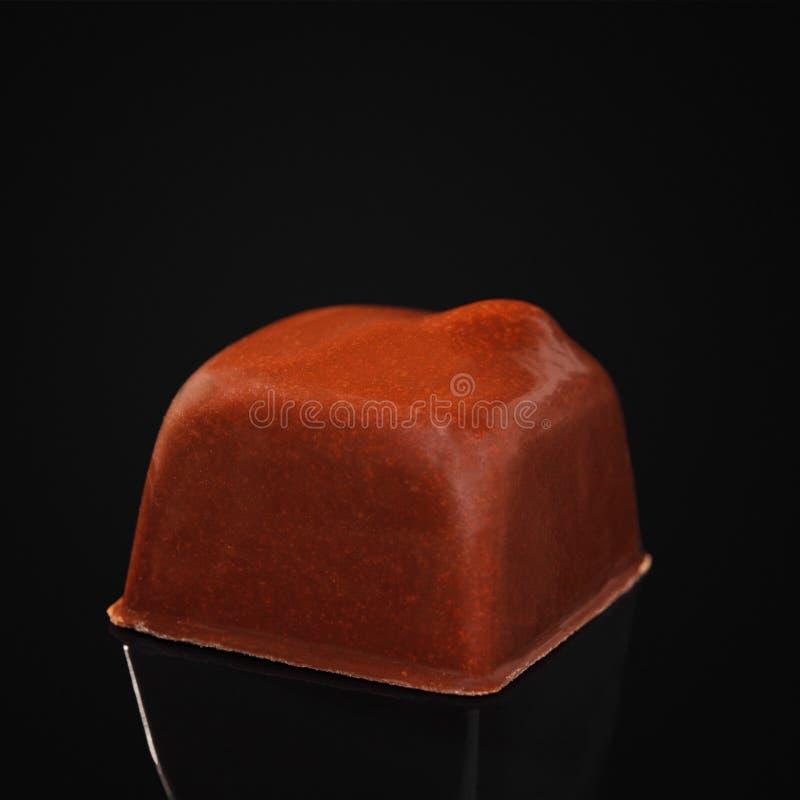 Les sucreries ont fait du chocolat au lait sous forme de place photographie stock